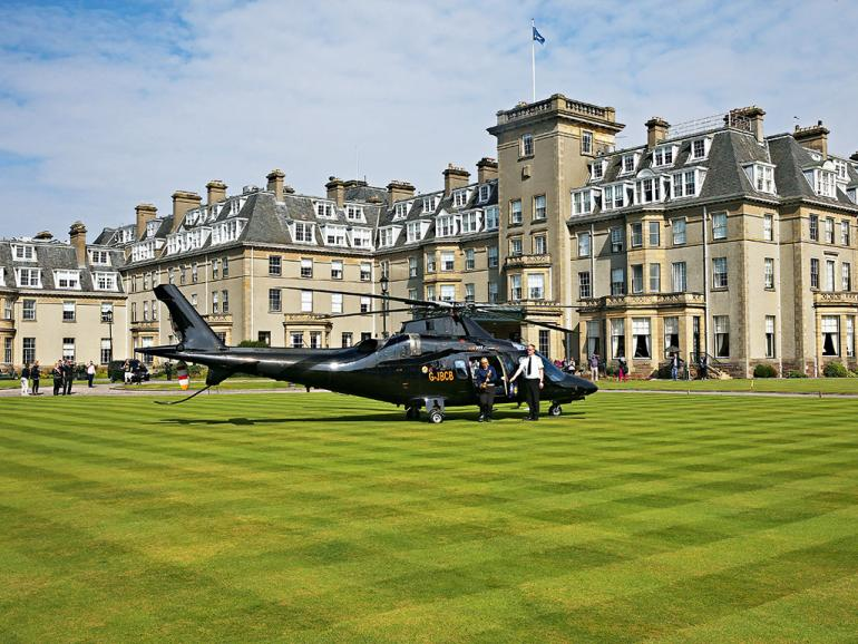 Gleneagles-Hotel-helicopter