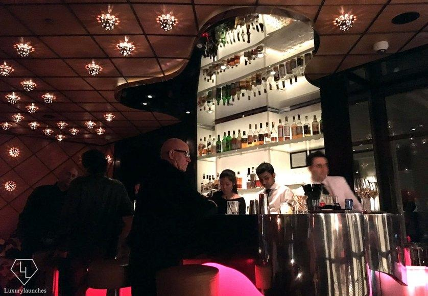 Stylish guests and decor. Just another night at the  Jean Georges'  restaurant bar.