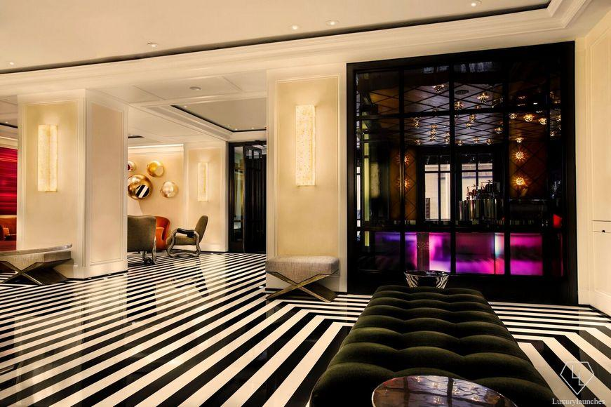 The chic lobby.