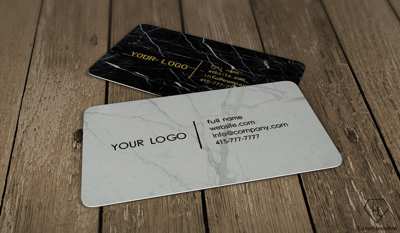 Real Marble Business card collection - Luxurylaunches
