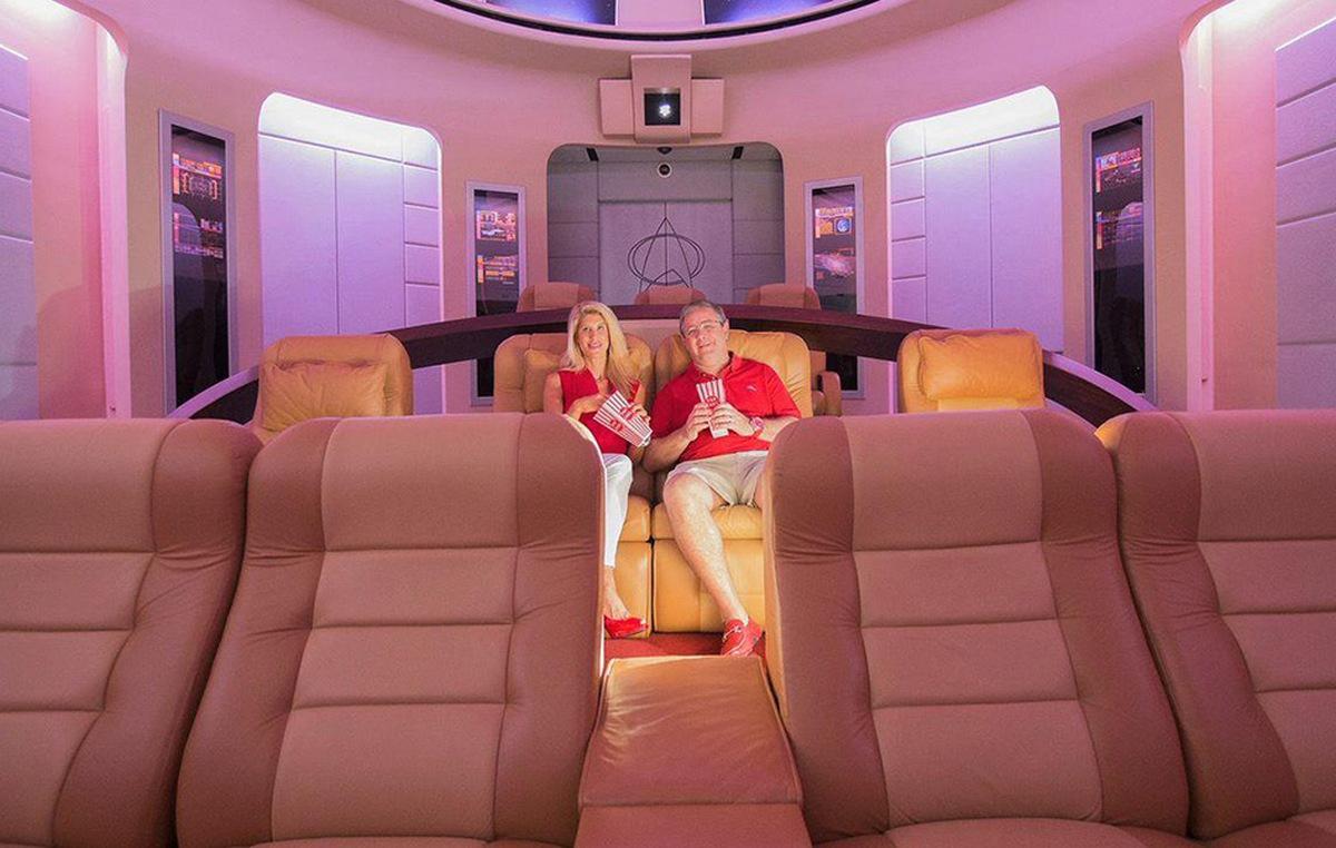 Inside The 1 5 Million Star Trek Themed Home Theater That