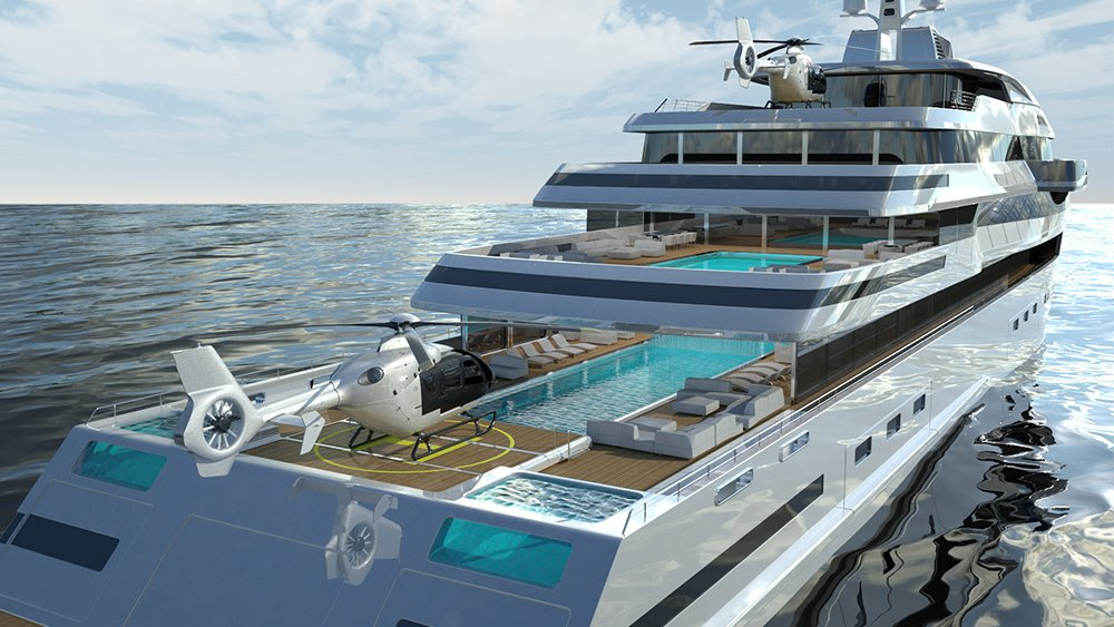 This jaw-dropping superyacht concept packs glass bottom ...