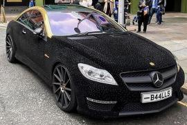 crystal studded Mercedes C63 AMG 1
