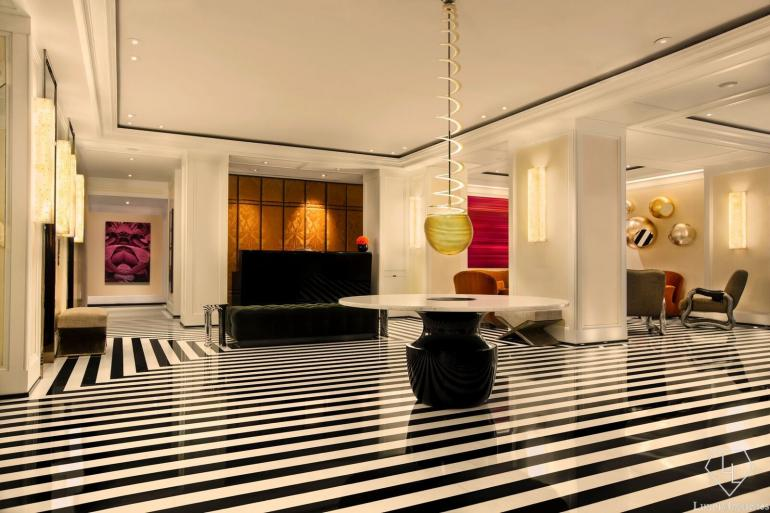 Chic would be an understatement for the lobby.