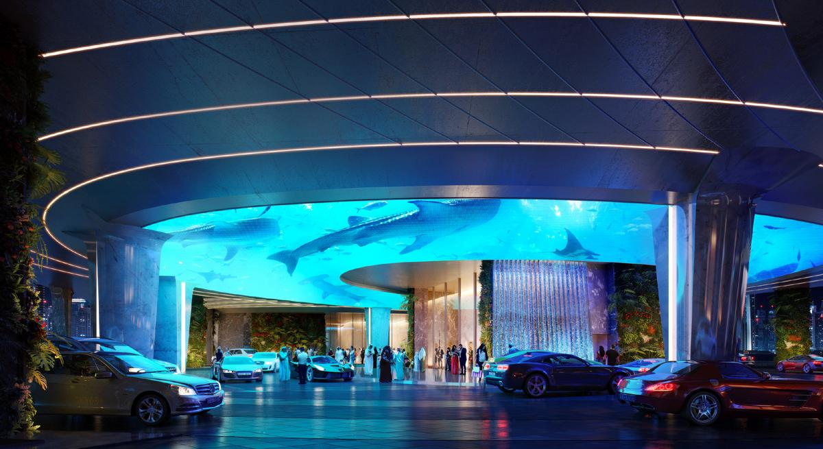 In a worlds first an upcoming luxury hotel in dubai will for The most luxurious hotel in dubai