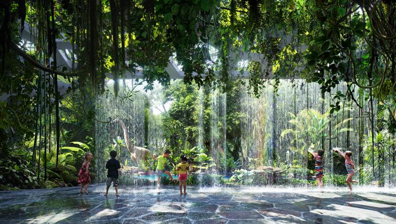 worlds first hotel with indoor rainforest dubai