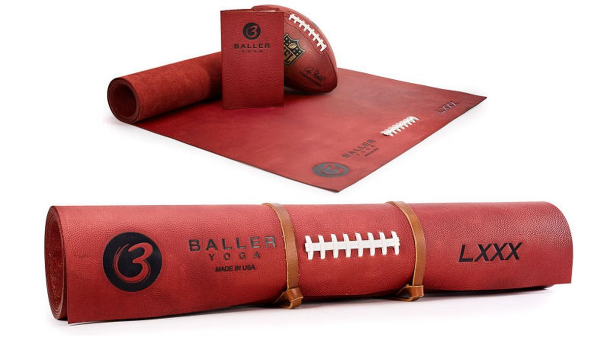 A $1,000 leather yoga mat that lets you stretch without slipping -