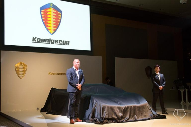 Christian Von koenigsegg at the debut