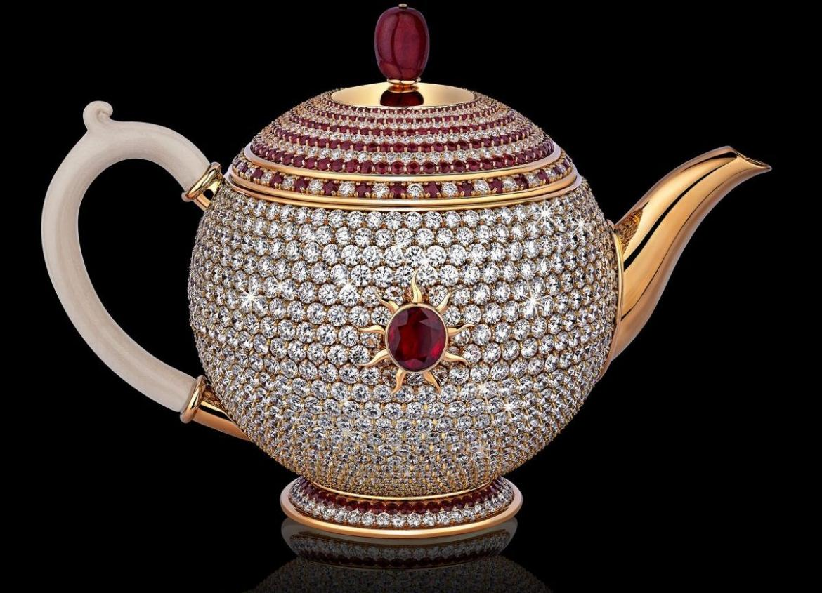 At 3 Million The World S Most Expensive Tea Pot Comes Studded In Sparkling Diamonds
