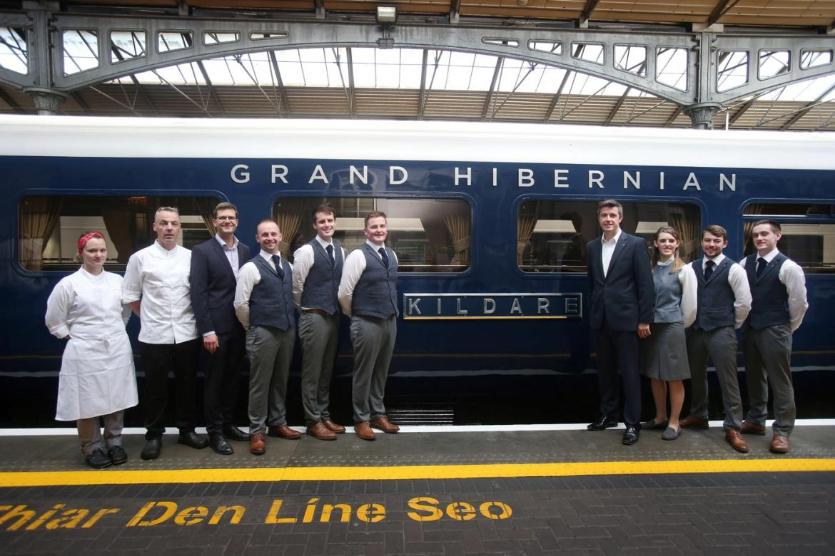 Inside irelands first luxury train the belmond grand hibernian ireland is famous for its picturesque countryside boasting endless green expanses of emerald grass cliffs beaches and every idyllic natural setting that publicscrutiny Images