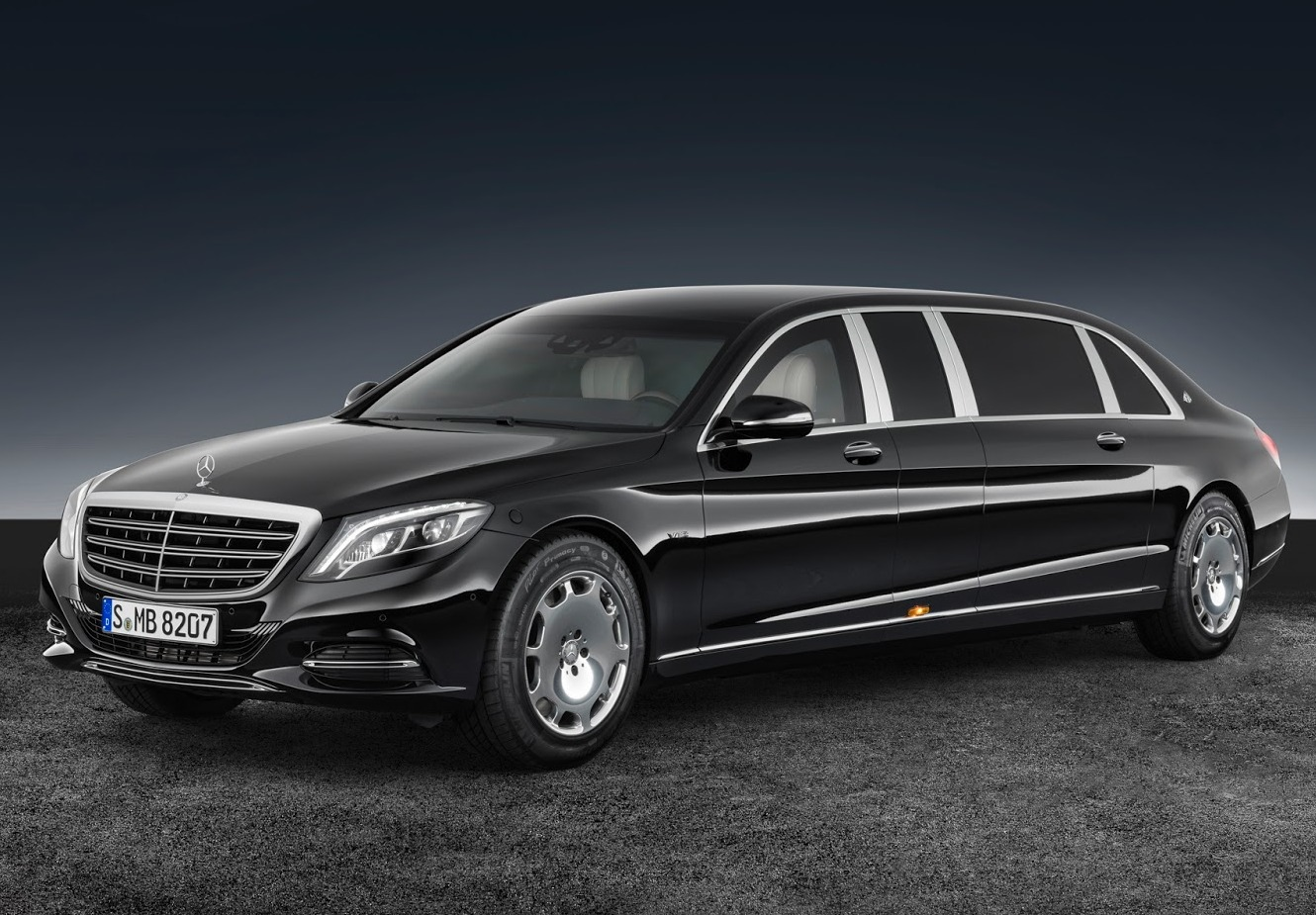 The next best thing to a luxury tank - An armored Maybach S600 Pullman -