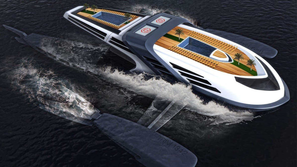 A $100 million eco friendly luxury yacht concept that is powered by whale tails : Luxurylaunches