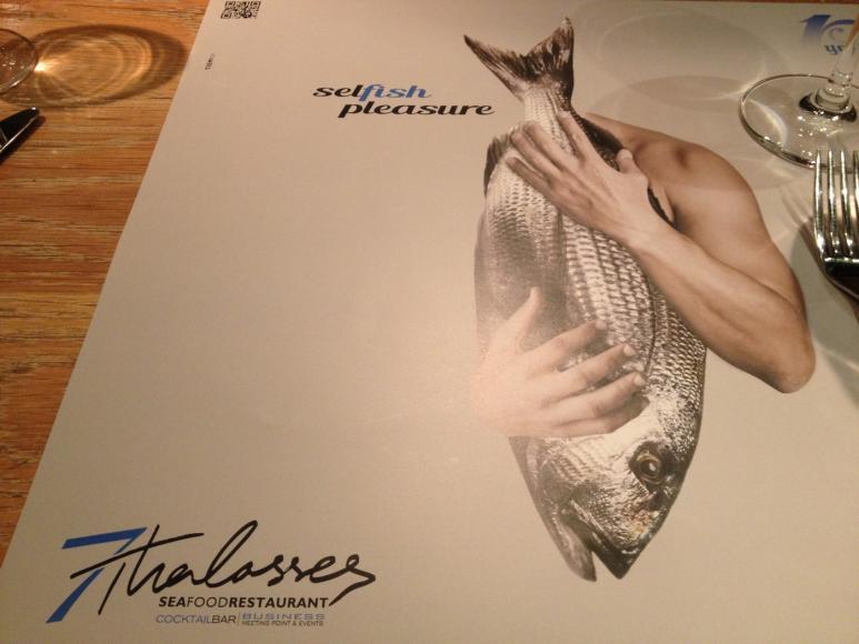 The special seafood menu at 7 Thalasses