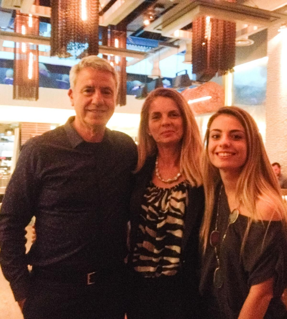 Vangelis Gerovassiliou with wife Sonia and daughter Vasiliki