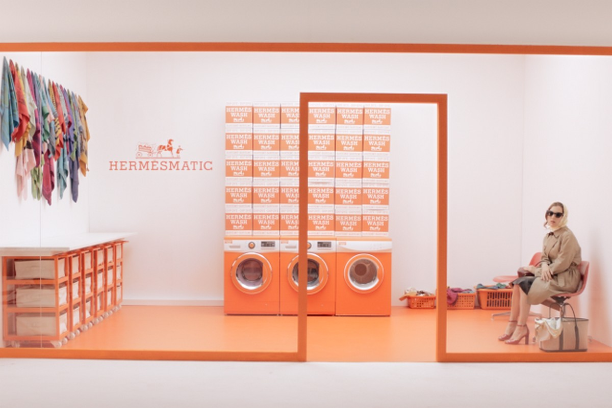Hermes to launch pop-up luxury laundromats to revive their silk scarves -