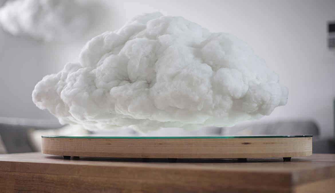 Storm Cloud Shaped Wireless Speaker Levitates While