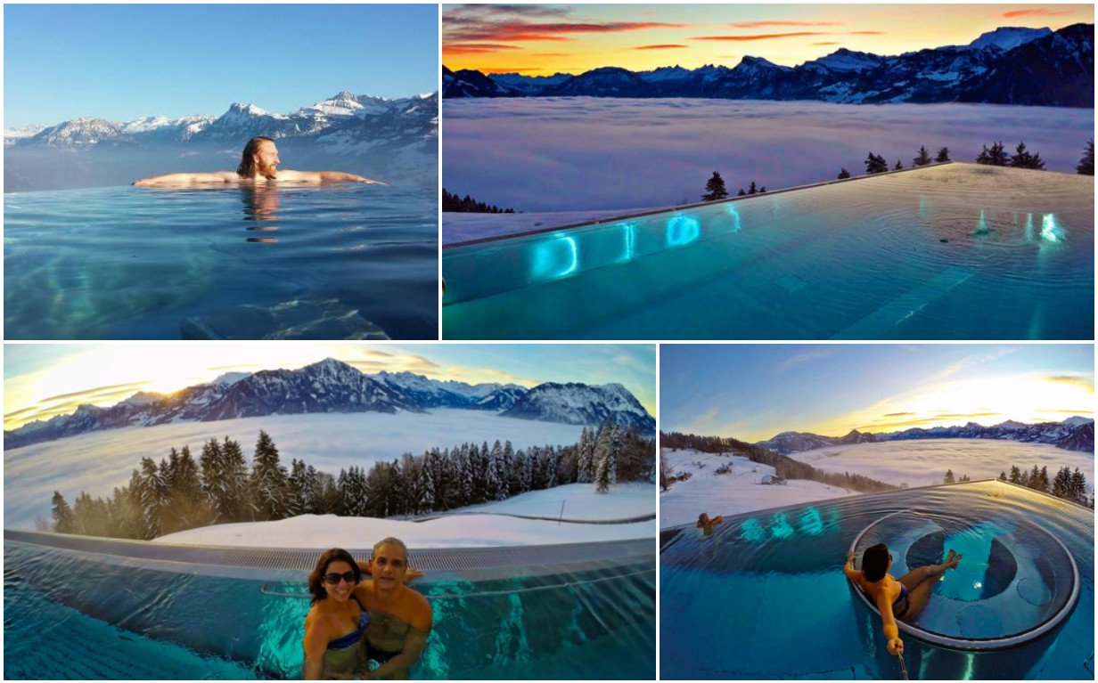 The Internet is loving this stunning 'Stairway to heaven' infinity pool in the Swiss Alps : Luxurylaunches