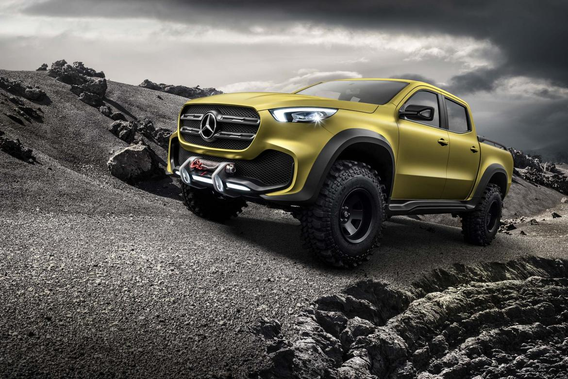 Mercedes benz unveils its first pick up truck for Mercedes benz pickup truck