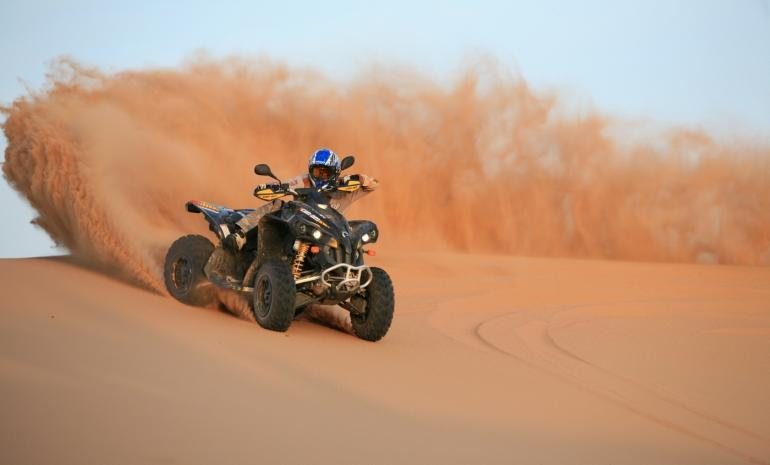 quad-biking
