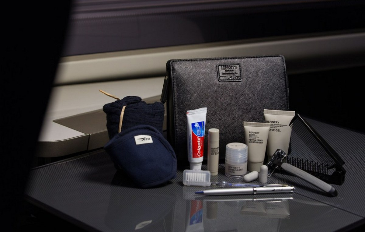 2016 British Airways First Class Amenity Kit