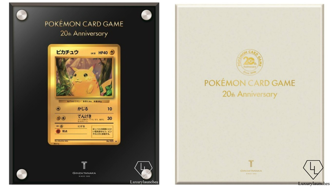 Tokyo Jeweler Releases A Pure Gold Pokemon Playing Card