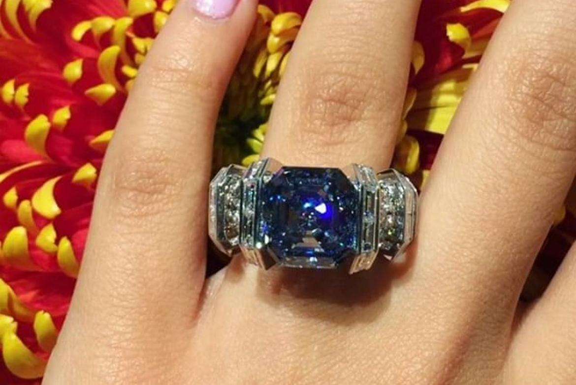 This Stunning Blue Diamond Ring Could Be Yours For 25