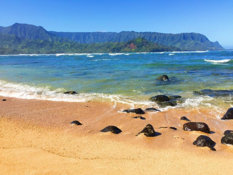 The Beach Area Is Major Ing Point Of Property A Cove On Side Hei Bay At St Regis Princeville Resort Offers