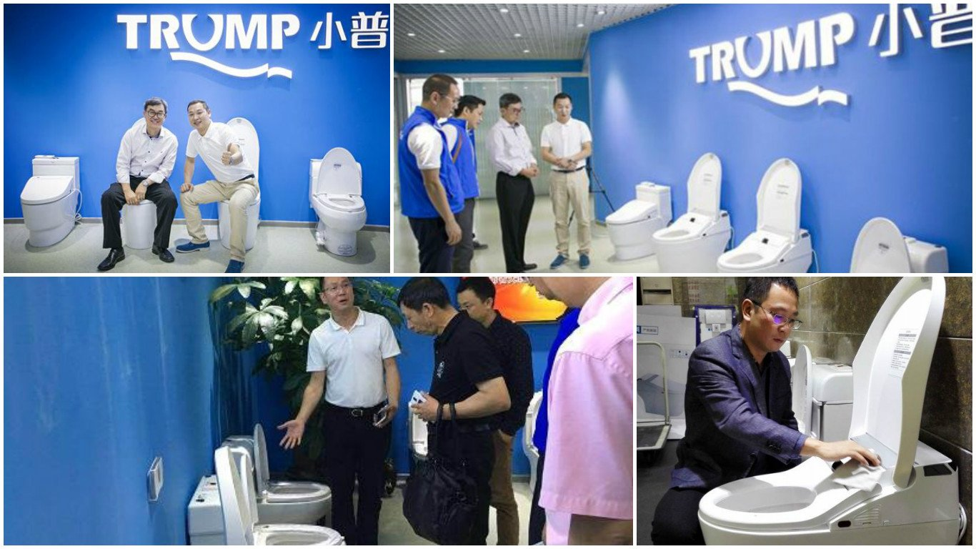 A Chinese company is selling luxury Trump toilets -