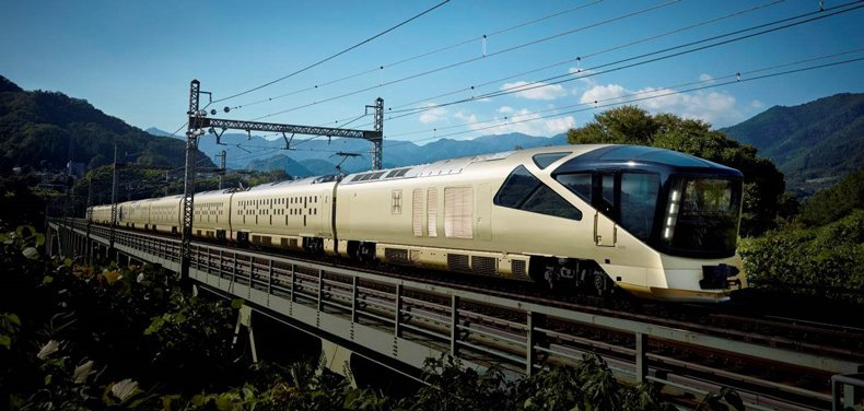 The platform will serve the passengers of the uber luxurious 'Train Suite Shiki-shima'.