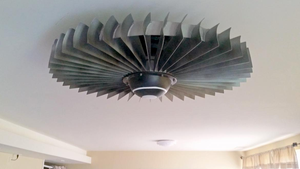 The coolest way to beat the heat a jet engine ceiling fan a ceiling fan is probably the most ignored home accessory of all but with this disregarded piece of furniture looking like it came straight out of an mozeypictures