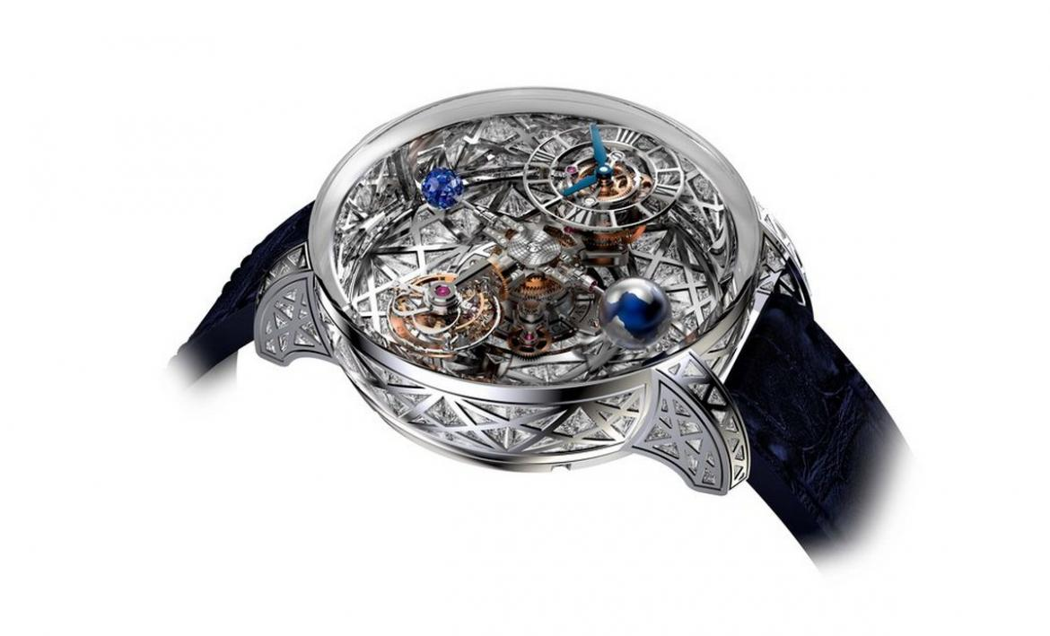 Jacob & Co.'s stunning Astronomia Meteorite timepiece has the brilliance of a celestial body -