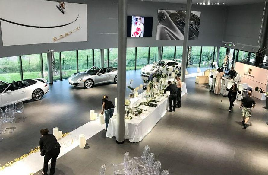 married-in-a-porsche-showroom-4