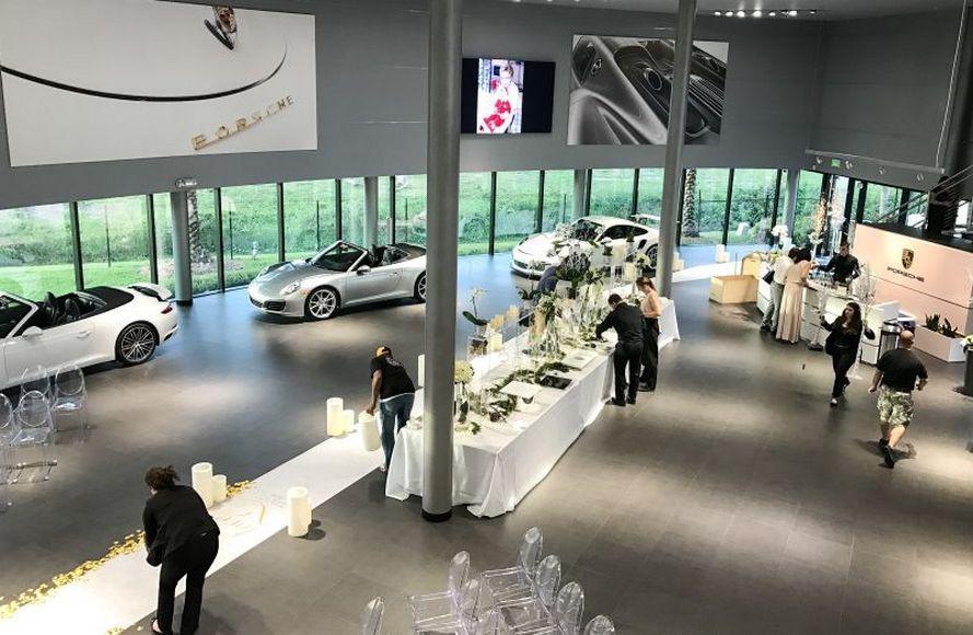 married-in-a-porsche-showroom-4