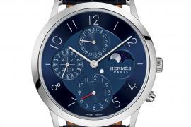 7098115af Take a look at the pristine blue Quantième Perpétuel Platine by Hermès