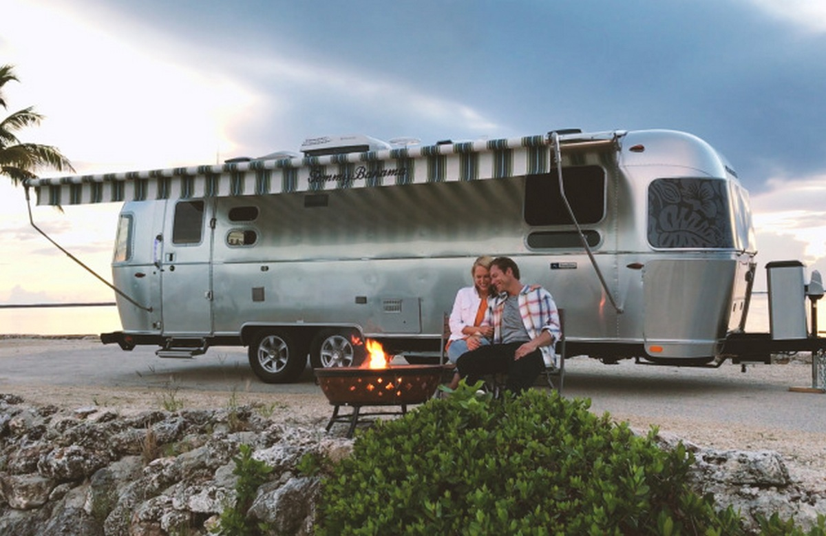 Airstream collaborates with Tommy Bahamas for a one off custom designed RV