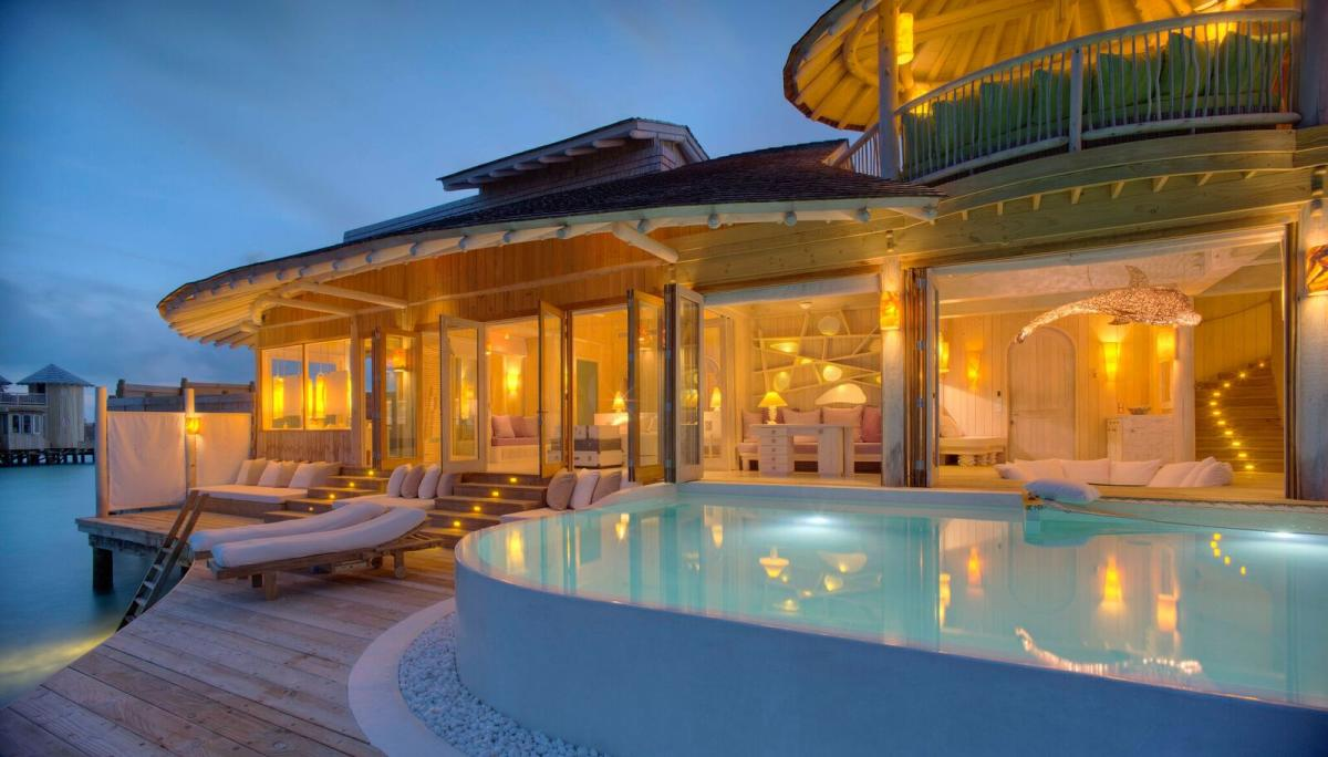 Suite Of The Week 1 Bedroom Water Villa With Slide At The