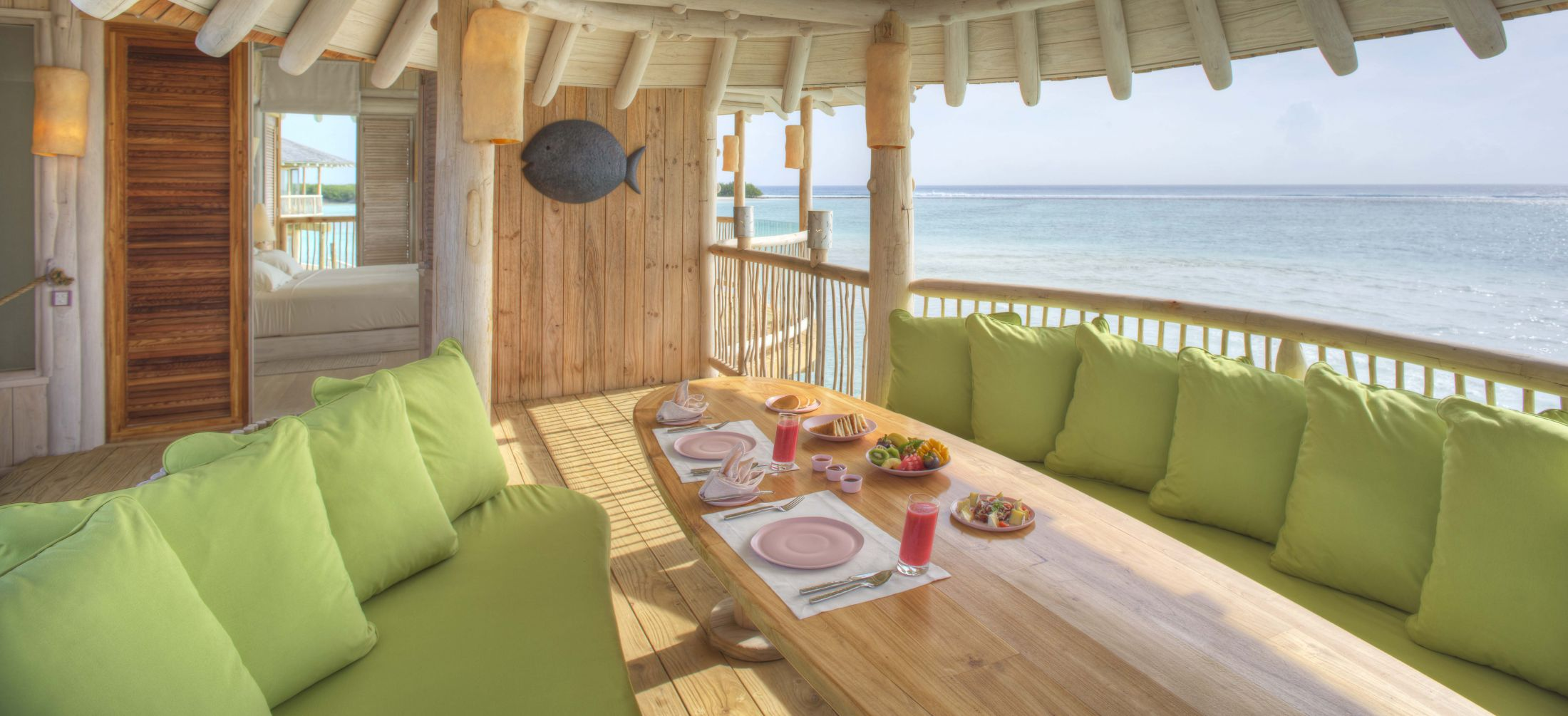 suite of the week 1 bedroom water villa with slide at the soneva