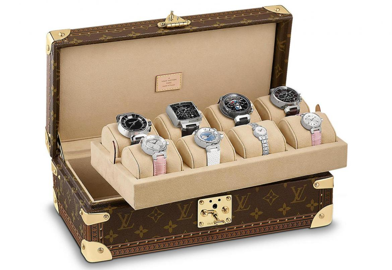 Stash your favorite timepieces in Louis Vuitton's sleek 8 Watch case -