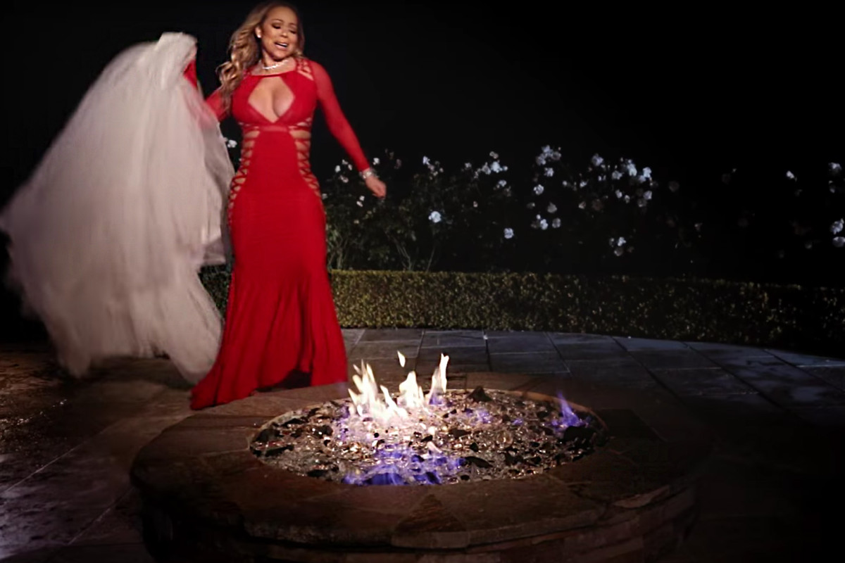 Mariah Carey Torches 250k Wedding Dress For Music Video