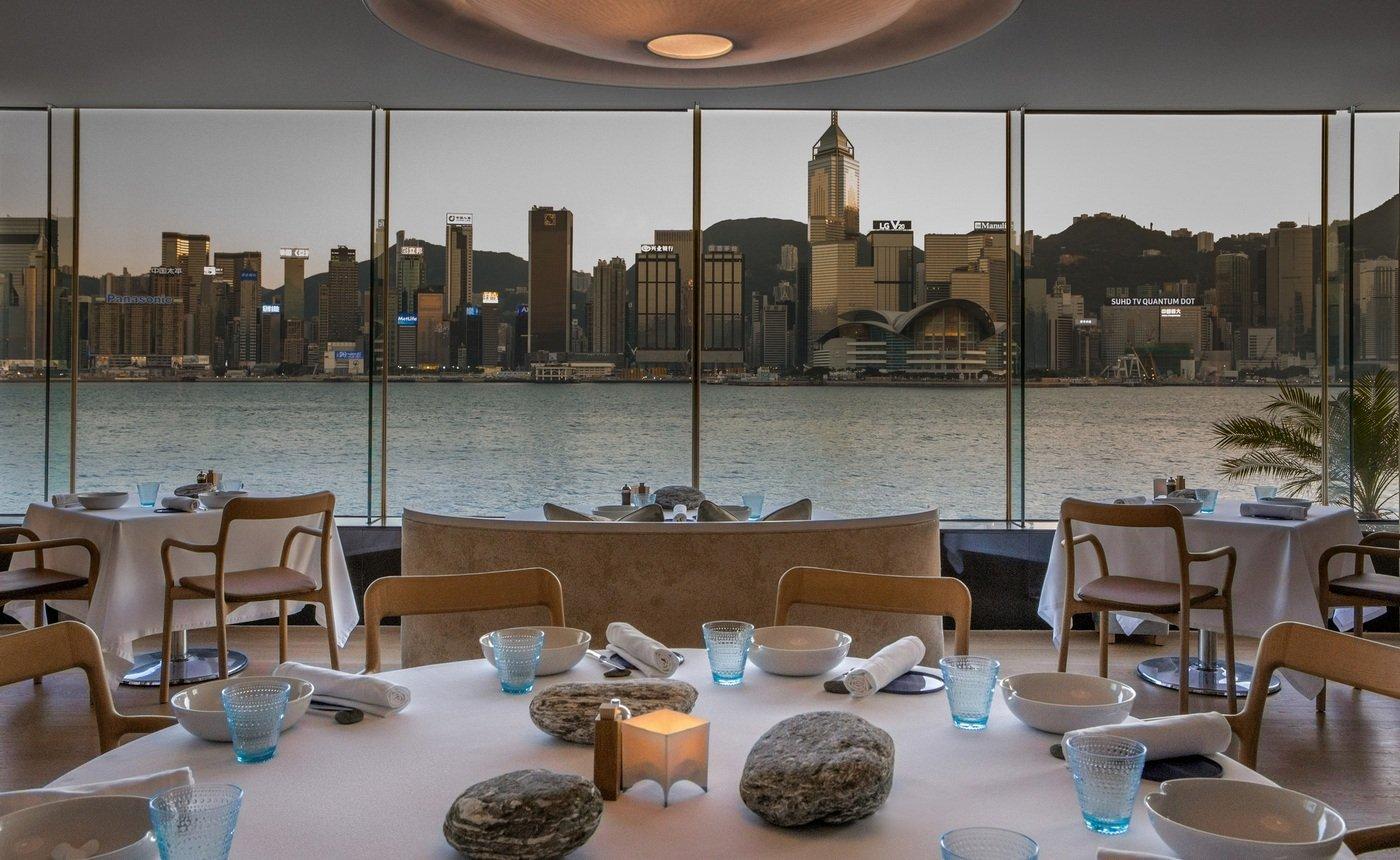 alain ducasse opens a restaurant in hong kong. Black Bedroom Furniture Sets. Home Design Ideas