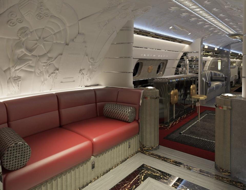 The Hollywood Airship A 80 Million Bespoke Jet With Art