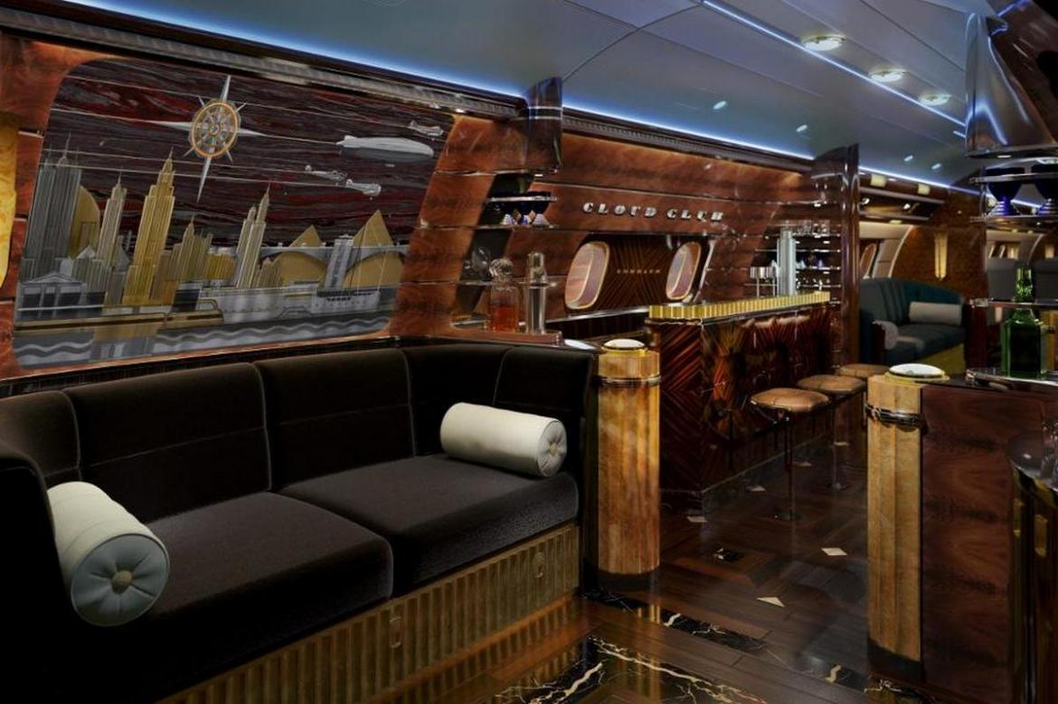 the hollywood airship - a $80 million bespoke jet with art deco