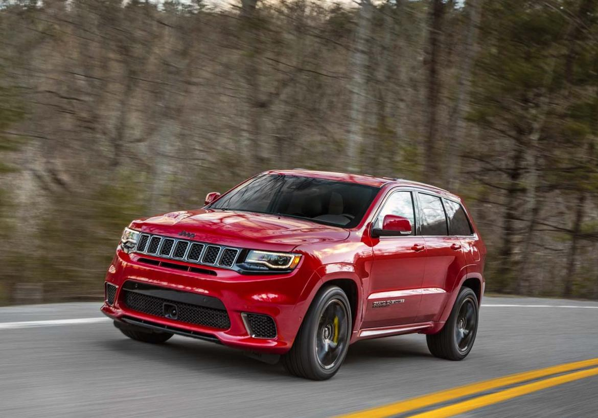 2018 jeep grand cherokee trackhawk with 707hp hellcat engine is an suv on steroids. Black Bedroom Furniture Sets. Home Design Ideas