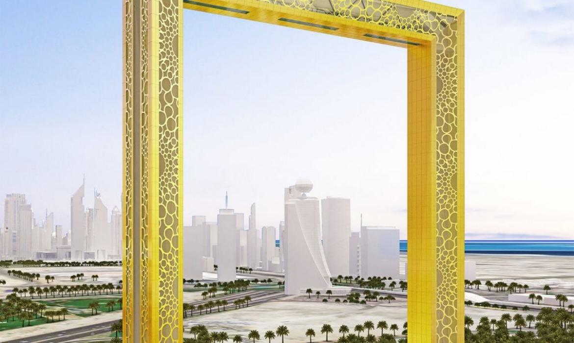 This building in Dubai is the world\'s largest picture frame tower -