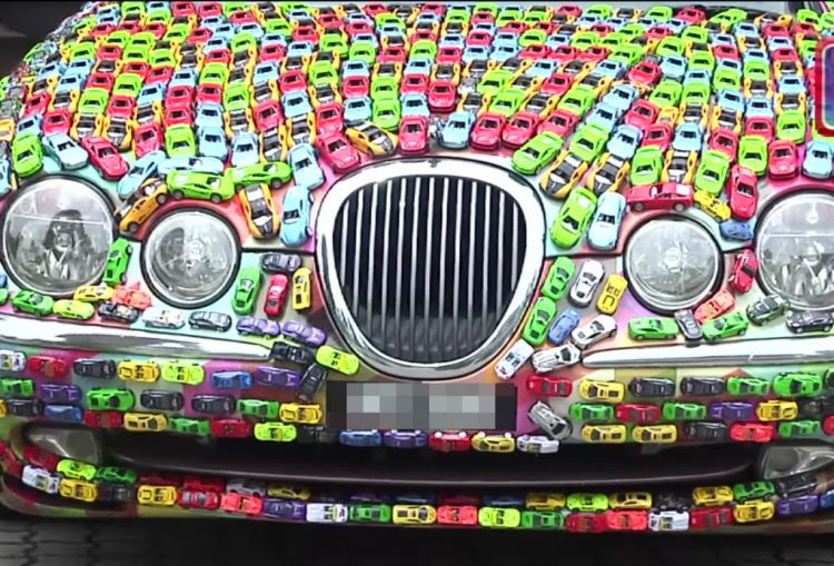 Malaysian businessman glues 4600 Hot Wheels toys to his Jaguar S-Type