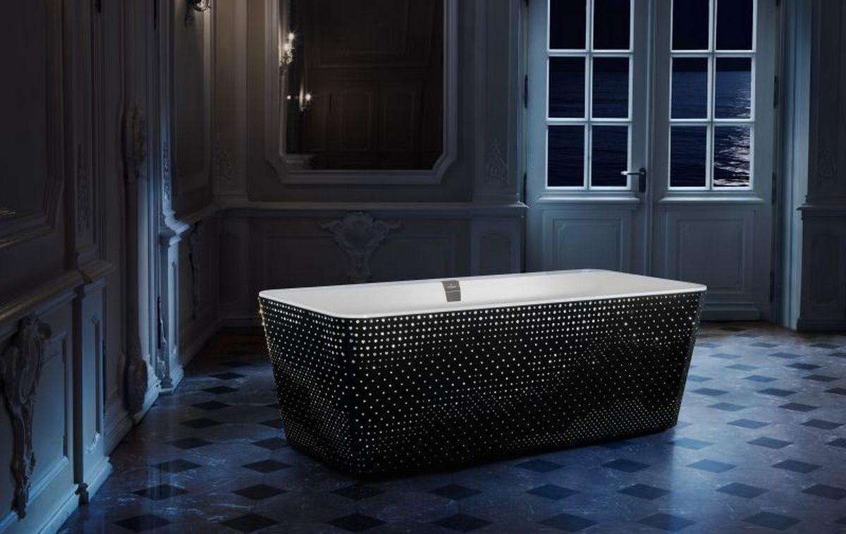 Take a look at the stunning Swarovski-studded bathtub by Villeroy & Boch : Luxurylaunches