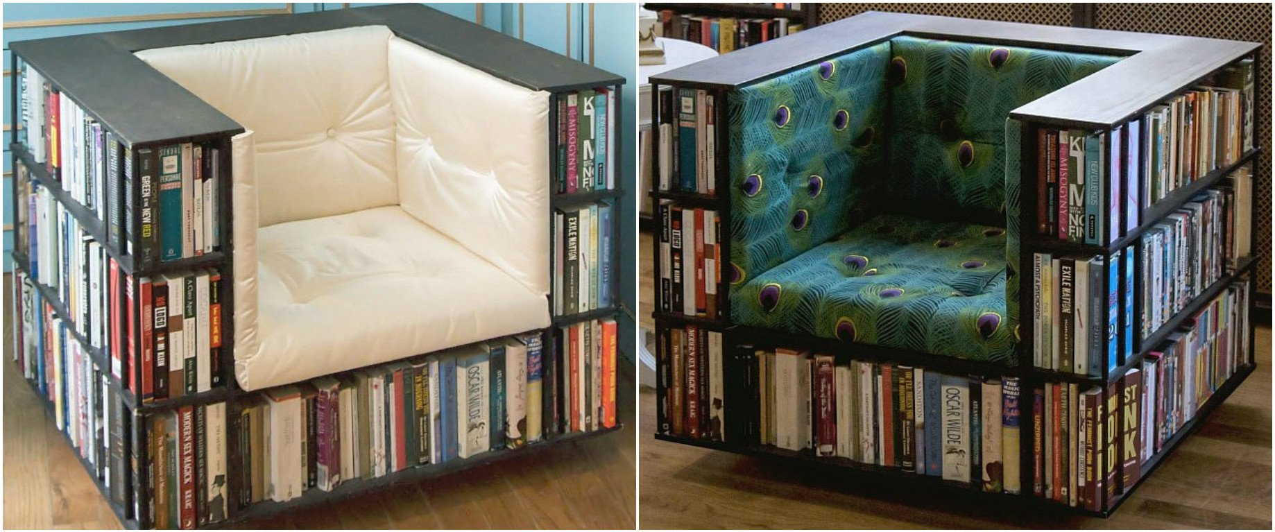 Most Comfortable Cars >> This made to order bookcase chair can house an entire ...