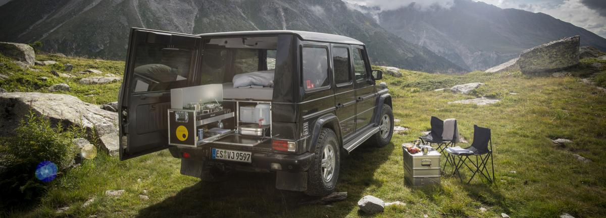 G-Wagen, the toughest SUV from Mercedes can now be transformed into a full fledged camper