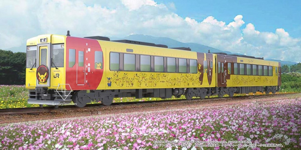Complete with sofas and lounge, Japan is getting a Pokemon themed train