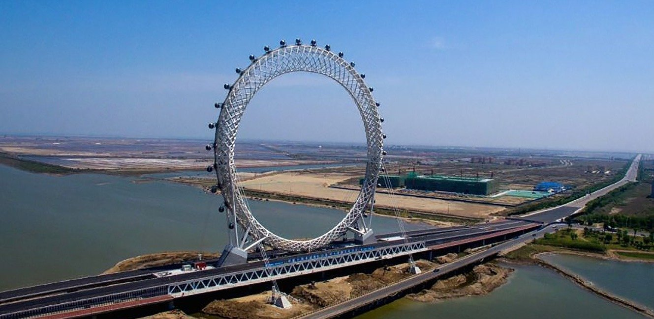 China's new spokeless ferris wheel is a megastructure that's even bigger than the London Eye